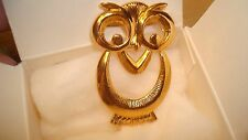 Avon Vintage *Wise Eyes Pin* *New In Box* *Rare 1990*Gold-Tone