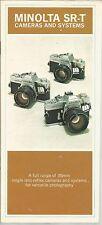 Minolta SR-T Cameras And Systems Brochure SRT405E-B3