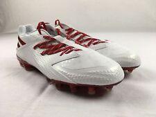 Adidas blanco 12.5 EE. UU. Zapatos de fútbol americano para hombres ... e2bef01553837