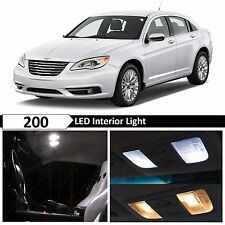8x White Interior LED Lights Package Kit for 2011-2014 Chrysler 200