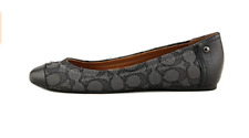 Coach Women's Chelsea Leather Flat 6 B(m) US Black Smoke