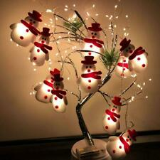 10/20 LED Christmas Snowman fairy Light Strings hanging Tree Party Decoration
