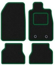 PEUGEOT 107 2005 ONWARDS TAILORED BLACK CAR MATS WITH GREEN TRIM