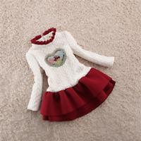 Baby Girl Warm Party Dress Kids Girl Thicken Dress For Little Girl Velvet Dress