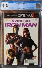 Invincible Iron Man #7 CGC 9.4🔥1st Cameo Riri Williams🔥WP🔥3RD Print. AUCTION!