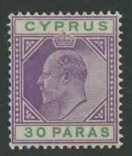 Cyprus SG51 30paras Mounted Mint