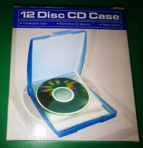 12 Disc CD Case Blue