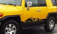 Mountains stripes side Stickers Decals for truck wrangler fj cruiser etc