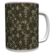 Puzzel Camouflage Tarnmuster Flecktarn- Tasse Becher Kaffee #6084