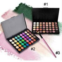 Cosmetico Opaco Ombretto Crema Makeup Palette Scintillante 40 Farben +Pinse J4A1