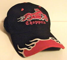 Choppers Motorcycle Cap Black Embroidered Adjustable Hat