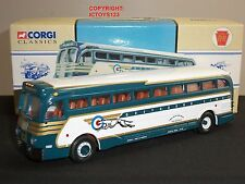 CORGI 98461 BATTLE OF BRITAIN YELLOW COACH 743 GREYHOUND AMERICAN DIECAST BUS