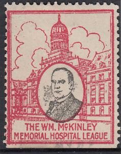 Stamp USA William McKinley Memorial Hospital League Cinderella issue, uncommon