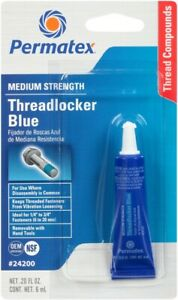 Permatex 24200 Blue Medium Strength Threadlocker-Loctite, 6ML Tube 53-8066 24200