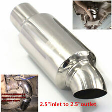 "2.5""inlet to 2.5""outlet Car Muffler Exhaust Pipe Tip Universal Stainless Steel"