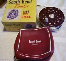 """NICE VINTAG  SOUTH BEND FINALIST 1155 FLY REEL 9/5/21P  USA  4"""" LINE POUCH"""