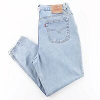 Vintage LEVI'S 550 Blue Denim Relaxed Straight Jeans Womens W34 L28