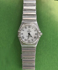 Omega Constellation Watches Diamond Bezel St. Steel, MOP Dial, Lady 1476.71.00