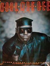 Kool Moe Dee Knowledge Is King 1989 Vintage Rap Hip Hop Music Store Promo Poster
