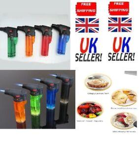 Blow Torch Chefs Butane Cooks Gas Utility Burner Lighter Kitchen UK Creme Brulee