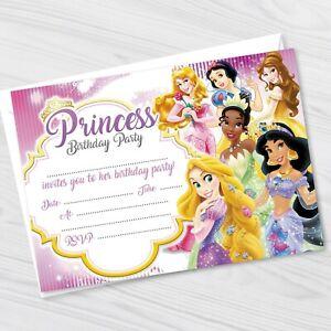 Disney Princess Birthday Party Invitations - Disney Princess Invites