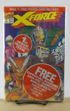 X-FORCE #1 1ST PRINT NM MARVEL COMICS 1991 POLYBAGGED WITH SUNSPOT GIDEON CARD