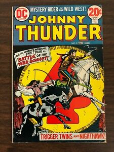 May 1973 Johnny Thunder #2 DC Comics Trigger Twins Nighthawk Appearance