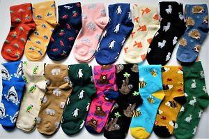 Joe Cool Novelty Funky Men & Ladies Animal Themed Ankle Socks Birthday's & Xmas
