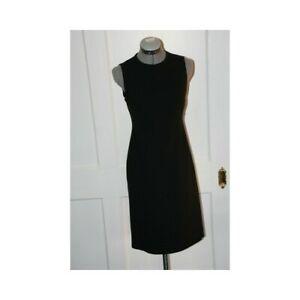 AUTHENTIC KORS BY MICHAEL KORS Black Wool Sheath Dress Sz 4