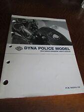 OEM HARLEY-DAVIDSON DYNA POLICE MODEL 2004 PARTS CATALOG. USED. 99544-04