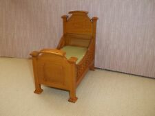 RENAISSANCE YOUTH BED - WALNUT - DOLL HOUSE MINIATURE
