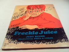 [B4] PAPERBACK- 1973 FRECKLE JUICE By Judy Blume FIRST PRINTING Four Winds Press