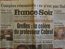 ▬► Journal France Soir 15/12/1992 Meryl Streep Niagara