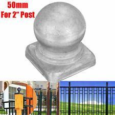 "50mm Metal Round Ball Fence Finial Post Cap Protect 2"" Square Posts Silver Tools"