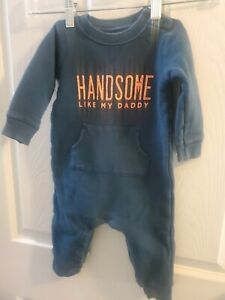 """Carters Baby/toddler Size 12 Months Body Suit. """"Handsome Like Daddy"""""""