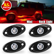 4PCS 9W Red LED Rock Light FOR JEEP Pickup Under Body Rig US