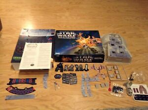 Star Wars Death Star Assault Game by Parker Bros 1995 Complete Unused Contents