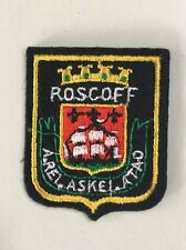 Vintage French Souvenir Patch ROSCOFF Embroidered France