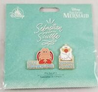 New Disney Store Sebastian and Scuttle Collector Pin Set - The Little Mermaid