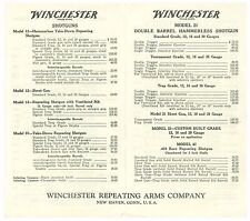January 1, 1935 Winchester Rifle and Shotguns Retail Price List