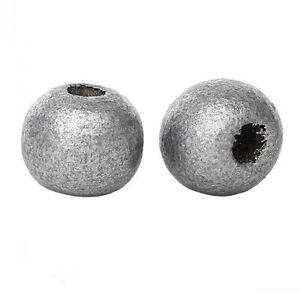 20 perles en bois 10mm couleur Argenté 10 mm creation colier attache tetine