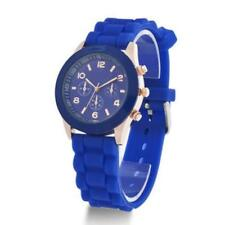 Colorful Womens Mens Geneva Silicone Jelly Gel Quartz Analog Sports Wrist Wa MT