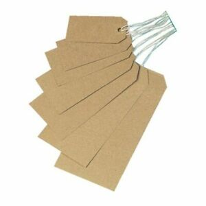 Quality brown parcel strung/price tags tie on craft label 6 sizes free postage