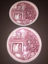 2 Josiah Wedgwood And Sons Christmas Eve Collector Plates 8-3/4 Inches England