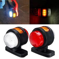 Amber/Red/White LED Side Marker Lights Rubber Lamp Outline Trailer Lorry 12V-24V