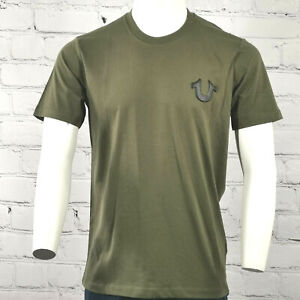 Men's True Religion T-shirt in Khaki/ Military Green and Black Soft Cotton £49