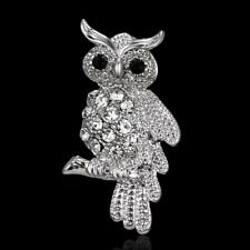 Women Jewelry Animal Owl Crystal Rhinestone Pin Brooch Fashion Accessory  CHIC 9334a7926a43