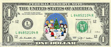 A Charlie Brown Christmas (Snoopy) Dollar Bill {In Color}  - REAL Money!
