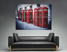 London Telephone Box Londres Cabines Wall Art  Poster Grand format A0