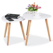 2-tlg.Beistelltisch Couchtisch holz Nachttisch Kaffeetisch Wohnzimmer Tisch weiß